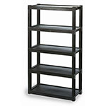 Continental Commercial 4418-5 GY Super Tuff Structo Shelving Until, 5 Shelf, 150-Lb Capacity, Grey