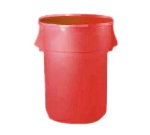 Continental Commercial 4444 RD 44-Gal Round Huskee Trashcan, Without Lid, Red