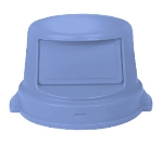 Continental Commercial 4456 BL Dome Top Lid For Huskee Trash Can Models 4442 4443 & 4444, Blue