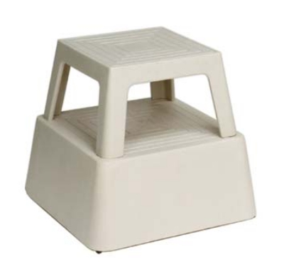 Continental Commercial 523 TN Step Stool, 14.25-in, Structural Plastic, Tan