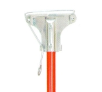 Continental Commercial 573 Mop Stick-Spring Yoke, 60 x 1, Red Fiberglass Handle, Metal Head
