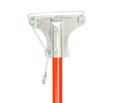 Continental 573 Mop Stick-Spring Yoke, 60 x 1, Red Fiberglass Handle, Metal Head