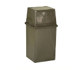 Continental 5750 BN 50-Gal King Kan Trash Can w/ Top Hinged Doors, Brown