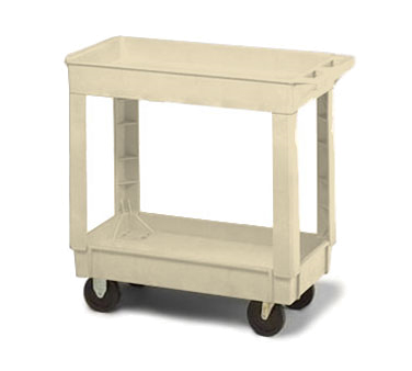 Continental Commercial 5800BE Utility Cart w/ 2-Shelves, 400-lb Capacity, Open Base, Beige