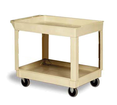 Continental 5805BE Utility Cart w/ (2) 24 x 36-in Shelves, 400-lb Capacity, Beige