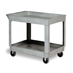 Continental Commercial 5805GY Utility Cart w/ (2) 24 x 36-in Shelves, 400-lb Capacity, Gray