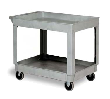 Continental 5805GY Utility Cart w/ (2) 24 x 36-in Shelves, 400-lb Capacity, Gray