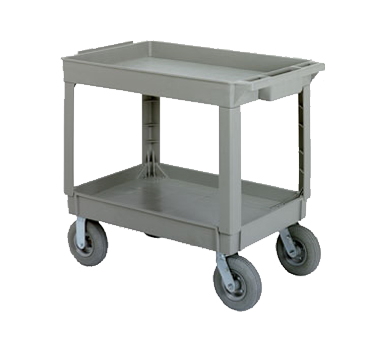 Continental 5805GY-PN Large Utility Cart w/ 2-Shelves, 400-lbs, Pneumatic Casters, Gray