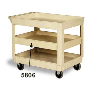 Continental Commercial 5806BE Center Shelf For Model 5805 Cart, 200-lb Capacity, Beige