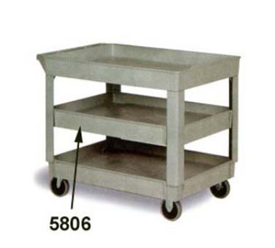 Continental Commercial 5806GY Center Shelf For Model 5805 Cart, 200-lb Capacity, Grey
