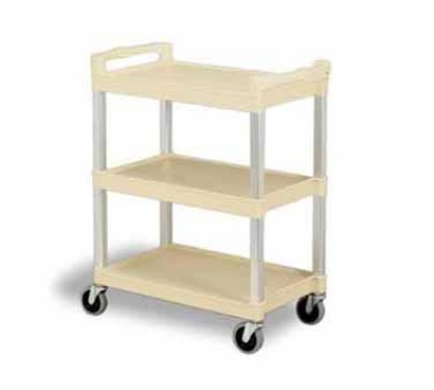 Continental 5810BE Bussing Cart w/ 3-Shelves, Open-Design, 200-lb Capacity, Beige