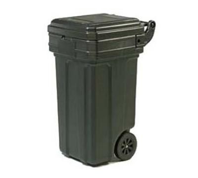 Continental 5850 Bk 50 Gal Tilt N Wheels Trash Can W