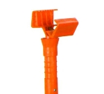 Continental 600 Jaws Mop Stick, 54.5 x 1.12 x 4.18-in, Fiberglass, Orange