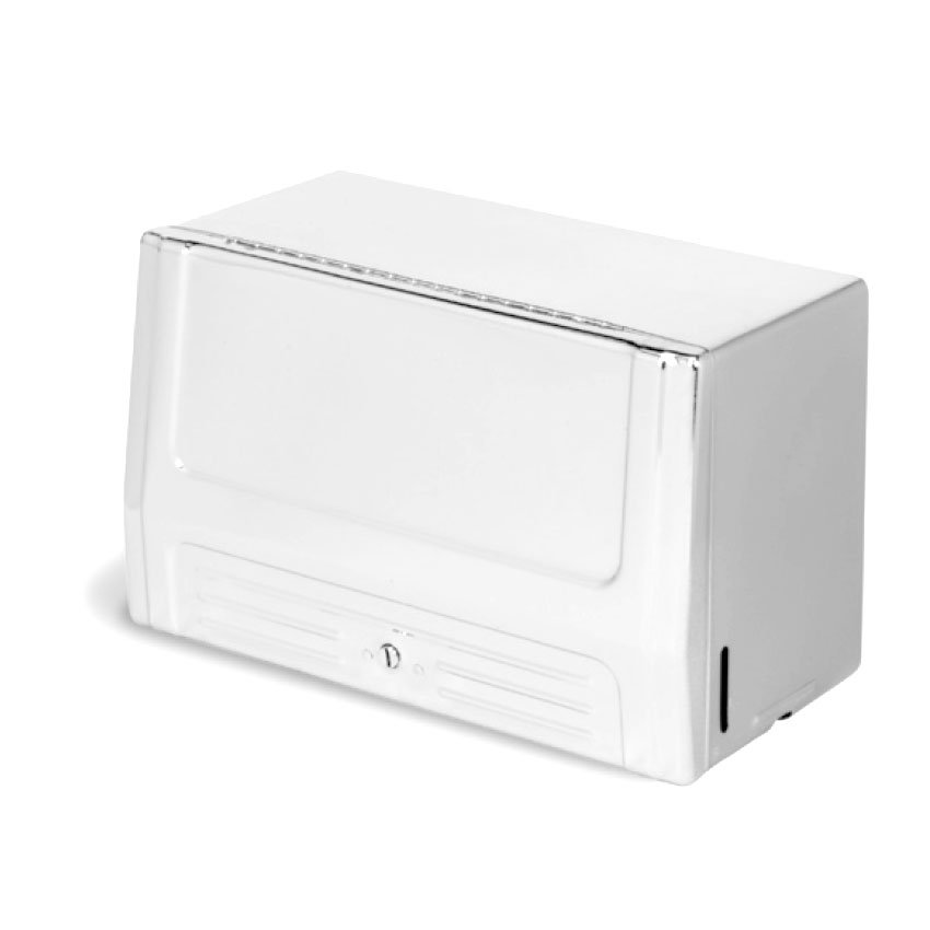 Continental 630w Wall Mounted Paper Towel Dispenser For Single Fold Towels Steel Katom