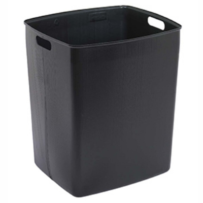 Continental 645-1 45-Gallon Recycle Receptacle w/ Hinged Lid, Yellow & Grey Lid