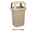 Continental Commercial 6454 45-Gal Colossus Trash Can w/ 4 Spring Loaded Doors, Brown