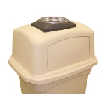 Continental 6458 BK Colossus Trash Can Ash Tray Top w/ Tray