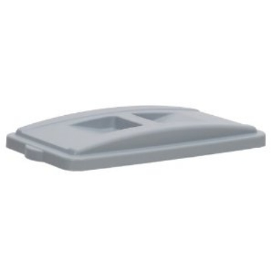 Continental Commercial 7315GY Recycle Lid w/ Handles For 8322 & H8322 Receptacles, Grey