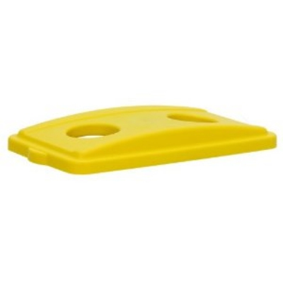 Continental 7316YW Recycle Lid w/ Holes For 8322 & H8322 Receptacles, Yellow