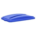 Continental 7317BL Recycle Lid w/ Slot For 8322 & H8322 Receptacles, Blue