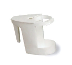 Continental Commercial 780 Bowl Mop & Cleaner Sanitary Caddy w/ Hinged Lid, Plastic, White