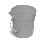 Continental 8110 GY 10-Qt Huskee Utility Bucket w/ Handle and Pouring Spout, Grey
