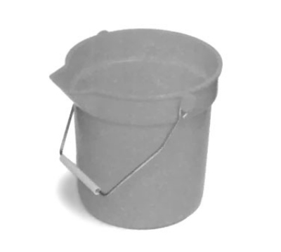 Continental Commercial 8110 GY 10-Qt Huskee Utility Bucket w/ Handle and Pouring Spout, Grey