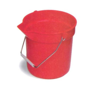 Continental 8110 RD 10-Qt Huskee Utility Bucket w/ Handle and Pouring Spout, Red
