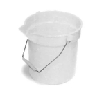 Continental 8110 WH 10-Qt Huskee Utility Bucket w/ Handle and Pouring Spout, White