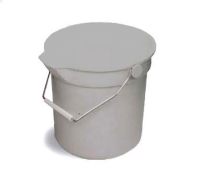 Continental 8114 GY 14-Qt Huskee Utility Bucket w/ Handle and Pouring Spout, Grey