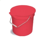 Continental 8114 RD 14-Qt Huskee Utility Bucket w/ Handle and Pouring Spout, Red