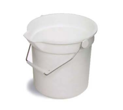 Continental 8114 WH 14-Qt Huskee Utility Bucket w/ Handle and Pouring Spout, White