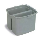 Continental 8216 16-Qt Huskee Utility Pail w/ Handle, Divided, Grey