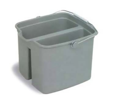 Continental Commercial 8216 16-Qt Huskee Utility Pail w/ Handle, Divided, Grey