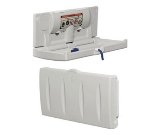 Continental 8252-H Horizontal Baby Changing Table w/ Interior Towel Dispenser, White
