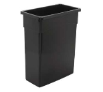 Continental Commercial 8316 GY 16-Gal Wall Hugger Trash Can, Without Lid, Grey