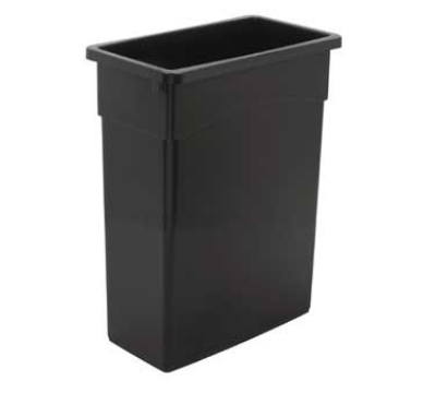 Continental Commercial 8316 BN 16-Gal Wall Hugger Trash Can, Without Lid, Brown