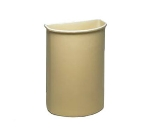 Continental 8321 BE 21-Gal Wall Hugger Trash Can for Models 5800 & 5805 Carts, Beige