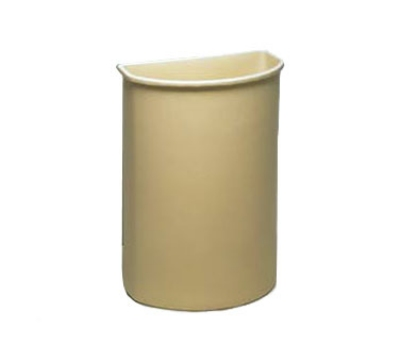 Continental Commercial 8321 BE 21-Gal Wall Hugger Trash Can for Models 5800 & 5805 Carts, Beige