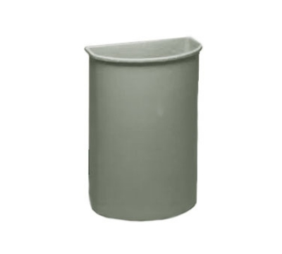 Continental 8321GY 21-Gal Wall Hugger Container for Cart Models 5800 & 5805, Grey