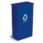Continental 8322-1 23-Gallon Recycle Waste Container, Blue w/ White Recycle Message
