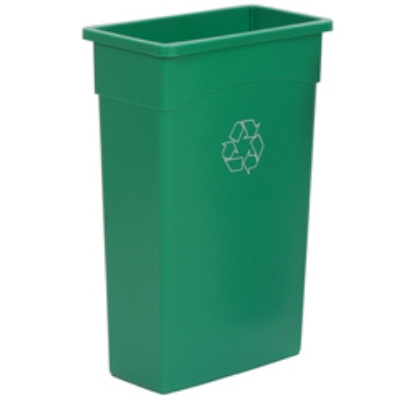 Continental Commercial 8322-2 23-Gallon Recycle Waste Container, Green