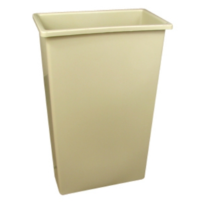 Continental 8322 BE 23-Gal Wall Hugger Trash Can, Beige