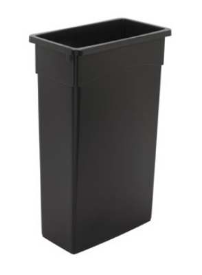 Continental 8322BK 23-Gallon General Purpose Waste Container, Polyethylene, Black