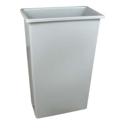 Continental 8322GY 23-Gal Wall Hugger Container for Carts 5800,5805 & 275, Lids 7318 & 7320, Grey