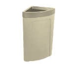 Continental 8324 BE 21-Gal Corner Round Trash Can w/ Bag Holder & Tie Down, Beige