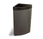 Continental 8324 BN 21-Gal Corner Round Trash Can w/ Bag Holder & Tie Down, Brown
