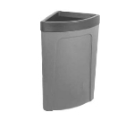 Continental 8324 GY 21-Gal Corner Round Trash Can w/ Bag Holder & Tie Down, Grey
