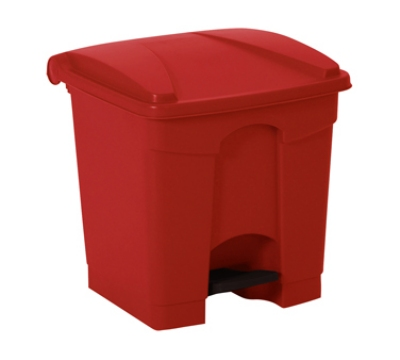 Continental 8RD 8-Gal Step On Trash Can w/ Built In Hooks, Red