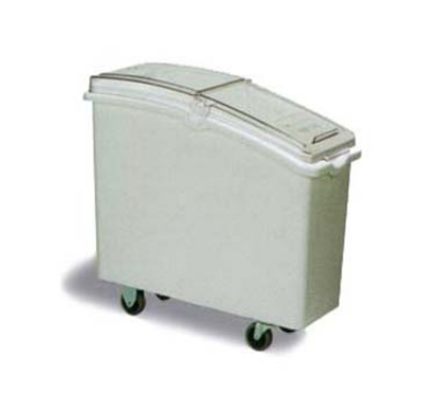 Continental Commercial 9326 26-Gallon Mobile Ingredient Bin w/ Hinged Sliding Lid, White